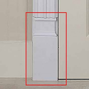 <PRE>Door Trim White Urethane Plinth 9 1/2inch H </PRE>zoom3