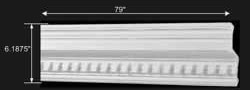 spec-<PRE>Cornice Withe Urethane 5&quot; H Laurah Ornate </PRE>