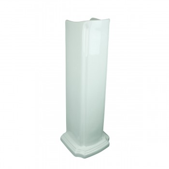 <PRE>Pedestal Bathroom Sink White China Pedestal Only </PRE>zoom3