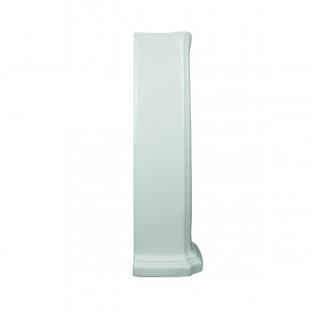<PRE>Pedestal Bathroom Sink White China Pedestal Only </PRE>zoom4