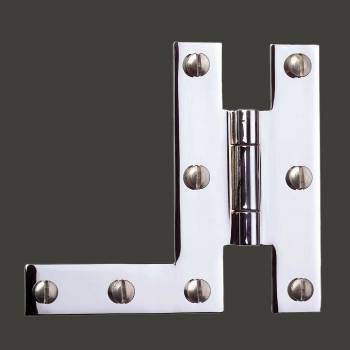 <PRE>Pair H-L Cabinet Hinge Chrome Plated Solid Brass </PRE>zoom2