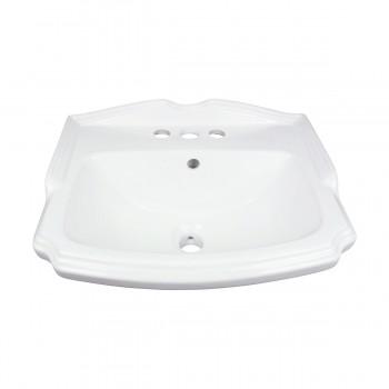 <PRE>Renovator's Supply Small White Bathroom Pedestal Sink Grade A Vitreous China</PRE>zoom3