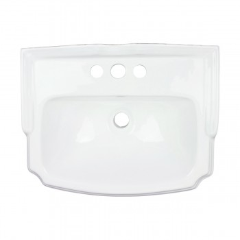 <PRE>Renovators Supply Small Bathroom White Pedestal Sink 4inch Centerset Faucet Holes</PRE>zoom4