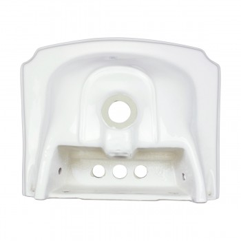 <PRE>Renovators Supply Small Bathroom White Pedestal Sink 4inch Centerset Faucet Holes</PRE>zoom5