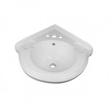 Corner Pedestal Bathroom Sink White Ceramic Space Saving Renovators Supply Bathroom Sinks For Small Spaces Pedestal Sink Space Saving Best Vintage Pedestal Sink