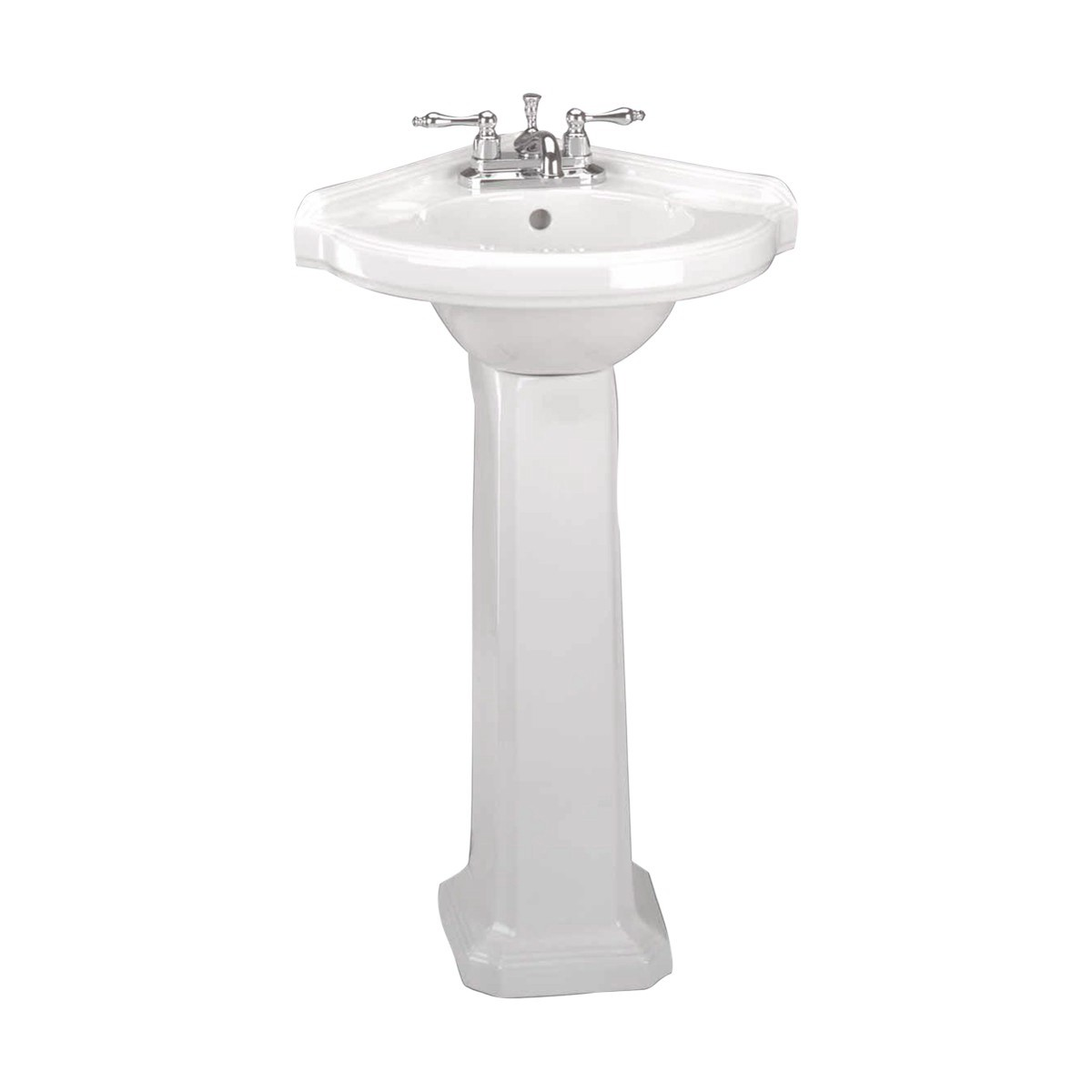 ... U003cPREu003eSmall Corner Bathroom White Pedestal Sink Vitreous China ...