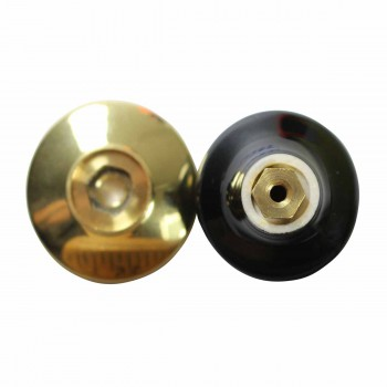 <PRE>Cabinet Knob Black Porcelain Solid Brass Backplate </PRE>zoom3