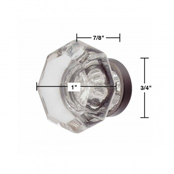 spec-<PRE>Cabinet Knob Crystal 1&quot; Dia Pewter Back </PRE>