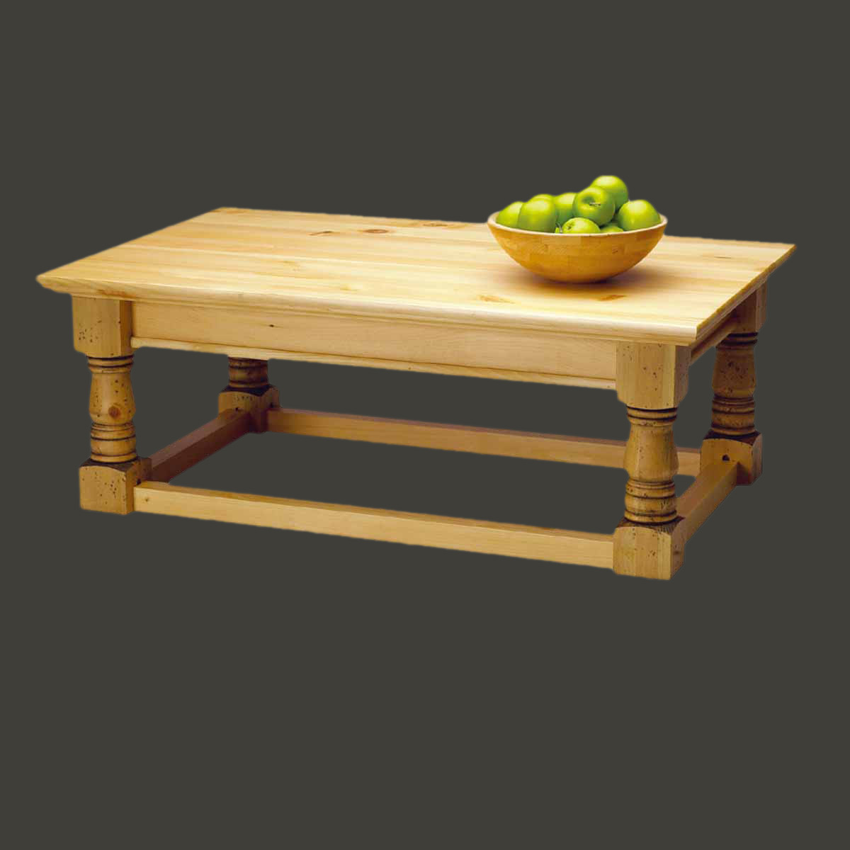 Coffee Table Country Pine Vintage Smooth Table 17 H