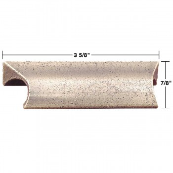 spec-<PRE>Bin Pull Antique Solid Brass Distressed </PRE>