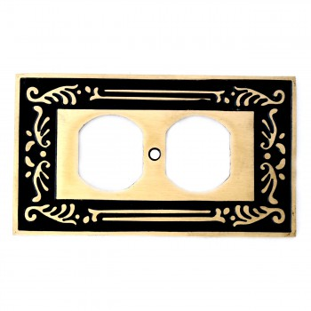 <PRE>Victorian Switch Plate Single Outlet Antique Solid Brass </PRE>zoom3