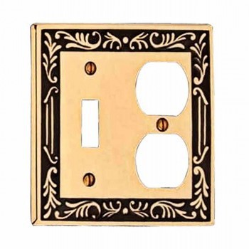 Victorian Switch Plate Toggle Outlet Antique Solid Brass 19396grid