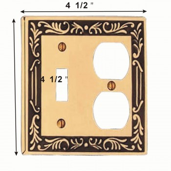 spec-<PRE>Victorian Switch Plate Toggle Outlet Antique Solid Brass </PRE>