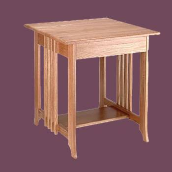 End Tables Living Room Unfinished Oak Mission End Table 24.5 Inch Height Wood Wooden End Table Living Room Bedroom End Side Table Oak Pine Mission Elegant Fancy Cute