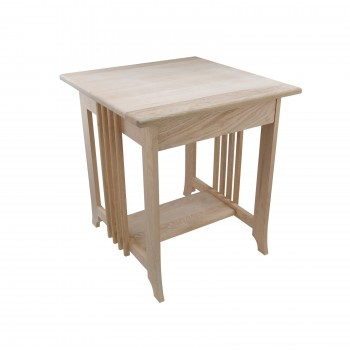 End Tables Living Room Unfinished Oak Mission End Table 24.5 Inch Height194010grid