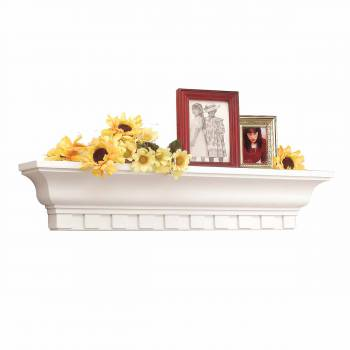 Traditional White Polyurethane Shelf Dentil 2 Feet Length 19402grid