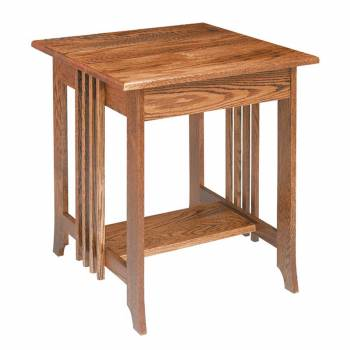 Mission Oak End Table Dark Oak Finish