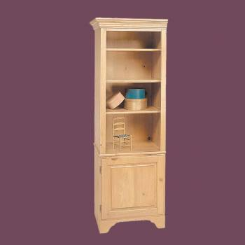 spec-<PRE>Bookcase Unfinished Pine Shaker Kit 66.5&quot;h </PRE>