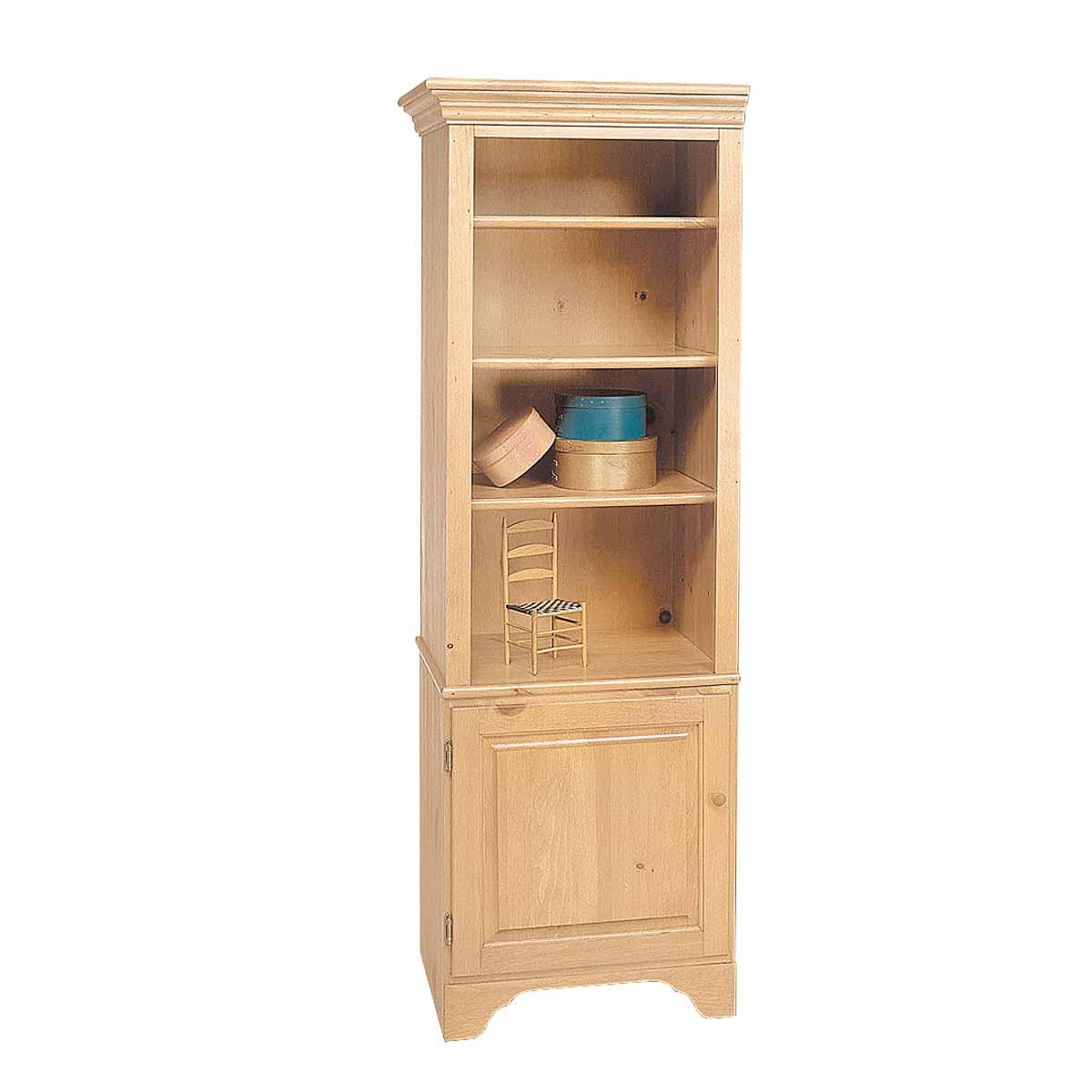 "Unfinished Pine Kitchen Cabinets: Bookcase Unfinished Pine Shaker Kit 66.5""h"