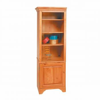Shaker Heirloom Pine Shaker Bookcase Heirloom Pine Kit 66 1/2H194115grid