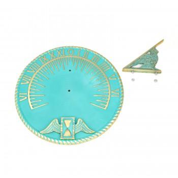 Sundial Verdigris Solid Brass 10 Inch Sundial Outdoor Sundials For The Garden Modern Sundial