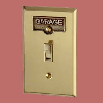 <PRE>Switch Plate Tags GARAGE Name Signs Labels Antique Brass </PRE>zoom2