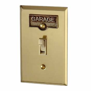 <PRE>Switch Plate Tags GARAGE Name Signs Labels Antique Brass </PRE>zoom1