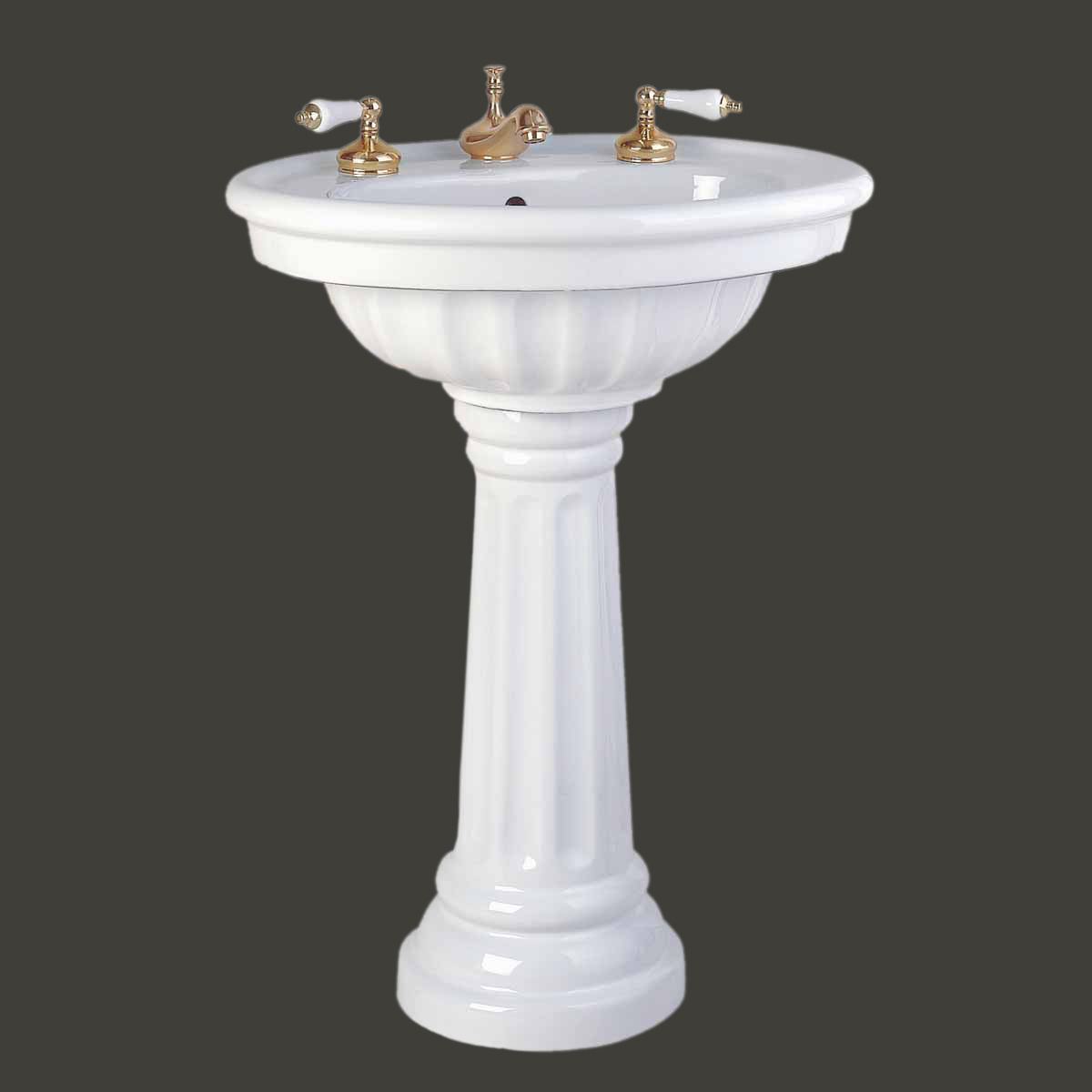 Images of bathrooms with pedestal sinks