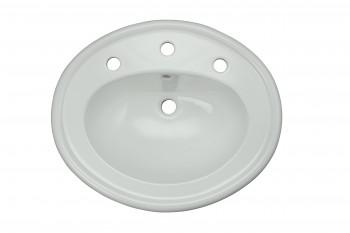 <PRE>Bathroom Single Pedestal Sink White China Fluted Philadelphia</PRE>