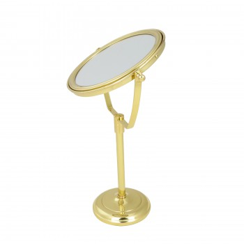 Table Makeup Mirror Solid Brass Swivel Magnifying Two Sided Mirrors Mirror Decorative Mirror