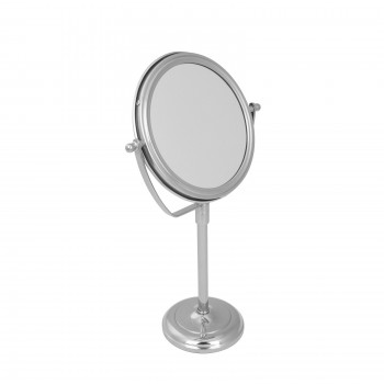 Table Makeup Mirror Chrome Brass Swivel Magnifying Two Sided Swivel Desk Mirrors Makeup Mirror Double Sided Desk Mirror