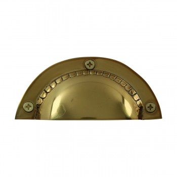 <PRE>Bin Pull Bright Solid Brass Cup Hooded </PRE>