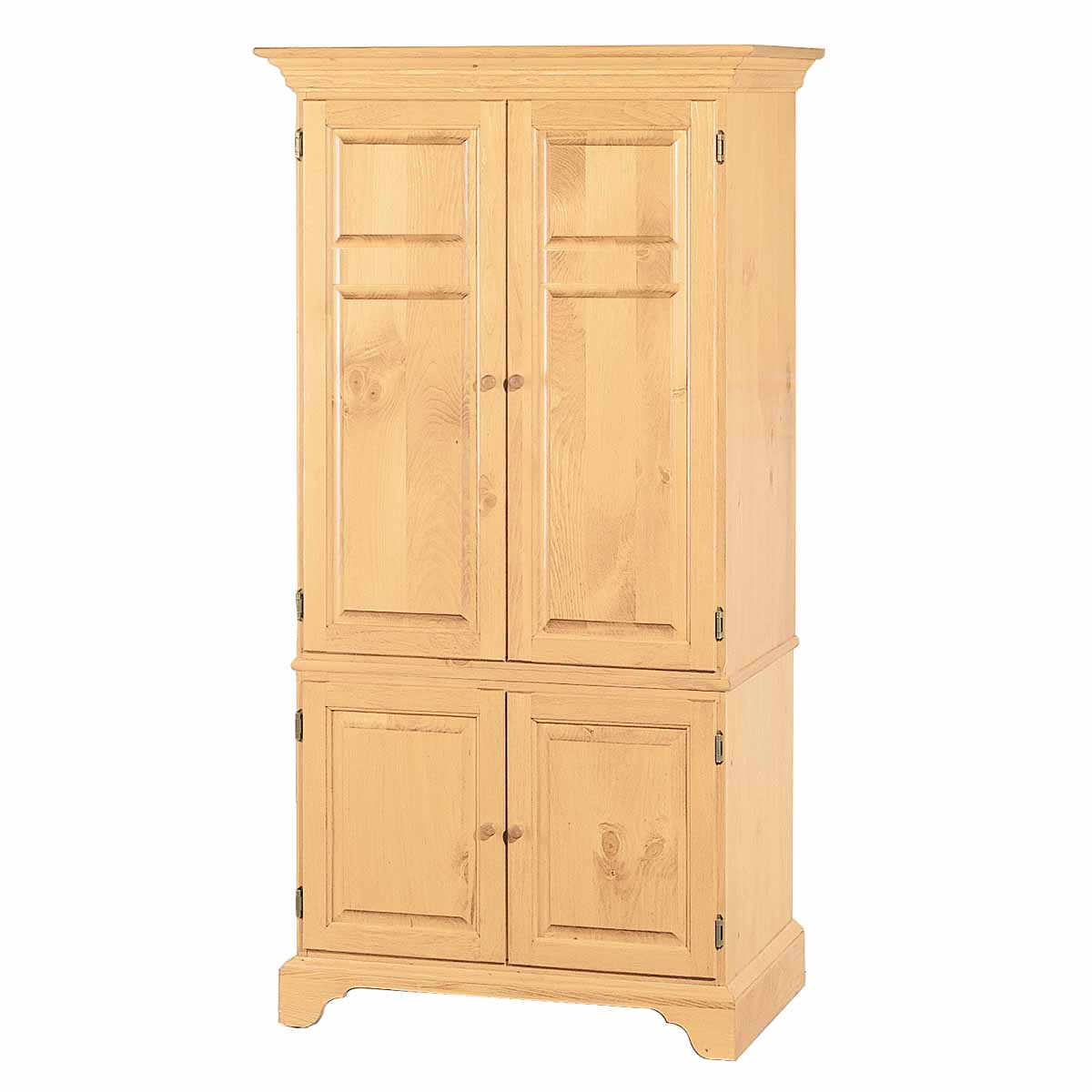 natural solid pine computer armoire cabinet easy assembly. Black Bedroom Furniture Sets. Home Design Ideas