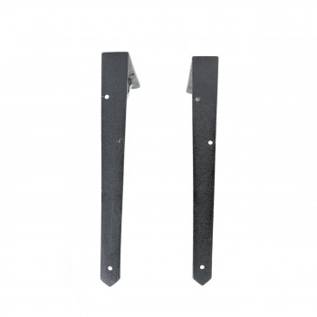 "<PRE>Pair Shelf Bracket Black Aluminum 8 3/4inch X 7"" </PRE>zoom4"