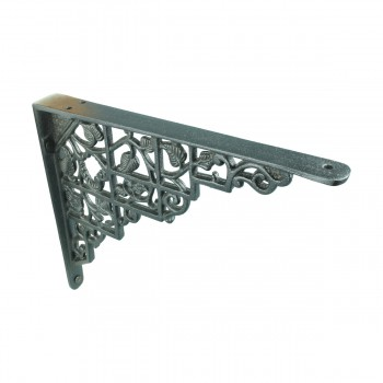 "<PRE>Pair Shelf Brackets Black Aluminum 7inch X 8 3/4"" </PRE>zoom5"