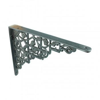"<PRE>Pair Shelf Brackets Black Aluminum 7inch X 8 3/4"" </PRE>zoom6"