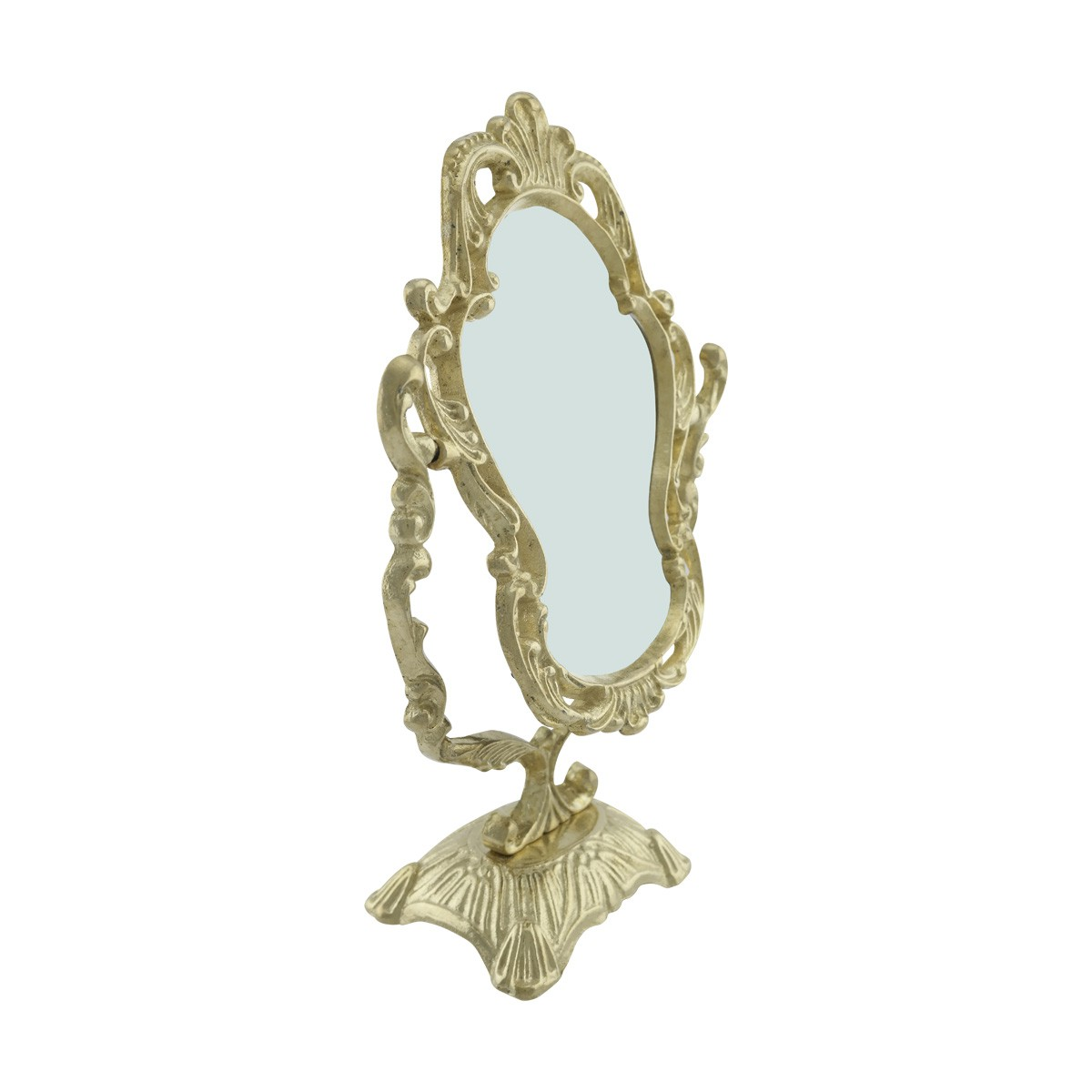 Antique Cast Brass Vanity Mirror Table Make Up Make Up Mirror Antique Mirror Free Standing Mirror
