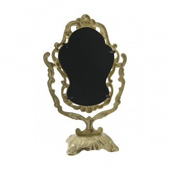 <PRE>Antique Cast Brass Vanity Mirror Table Make Up </PRE>zoom14