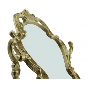 <PRE>Antique Cast Brass Vanity Mirror Table Make Up </PRE>zoom19