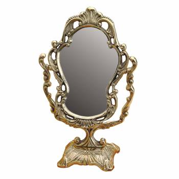 Antique Vanity Mirror Cast Brass