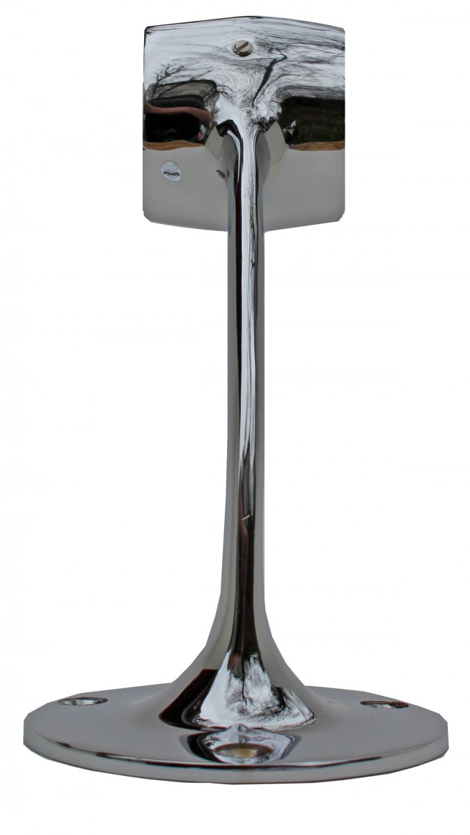Victorian Wall Bar Foot Rail Handrail Bracket 2 OD Chrome Bar Mount Foot Rail Bar Foot Rail Tubing Chrome Bar Bracket