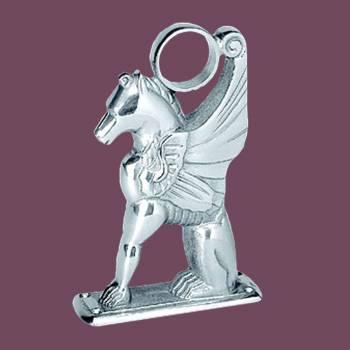 <PRE>Winged Pegasus Bar Foot Rail Bracket 2inch OD Chrome Brass </PRE>zoom2