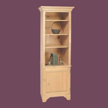 <PRE>Bookcase Unfinished Pine Shaker Kit 66.5inchH </PRE>zoom2
