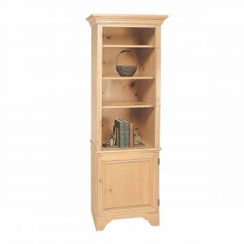 Wooden Bookcase Unfinished Pine Shaker Kit 66.5H Book Case Book Cases Wood Book Cases