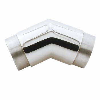 Elbow Fitting 135 degree 1.5 OD Bar Foot Rail Chrome Brass Chrome Elbow Flush Elbows Brass Elbow
