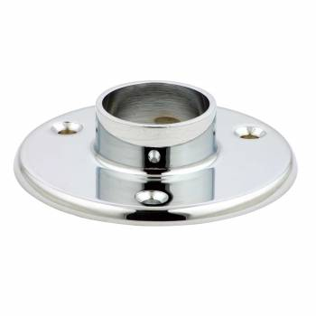 Bar Bracket Floor Flange 4 in. dia. Chrome