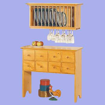 spec-<PRE>Shaker Heirloom Pine Buffet Storage Unit</PRE>