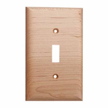 Switchplate Natural Maple Single Toggle 19674grid
