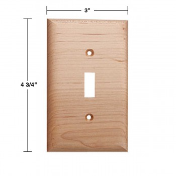 spec-<PRE>Switchplate Natural Maple Single Toggle </PRE>