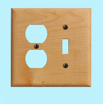 <PRE>Switchplate Maple Hardwood Toggle Outlet </PRE>zoom2